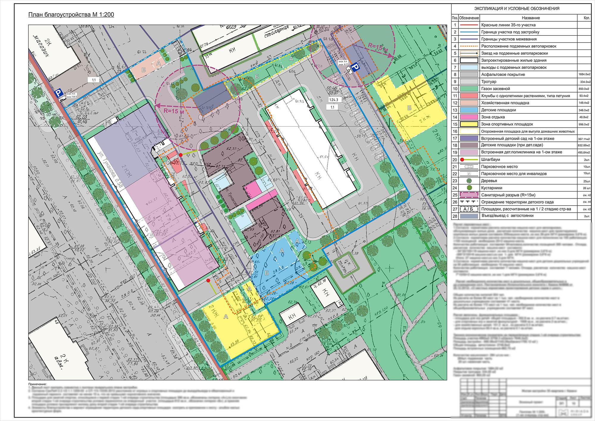 План благоустройства жилого комплекса