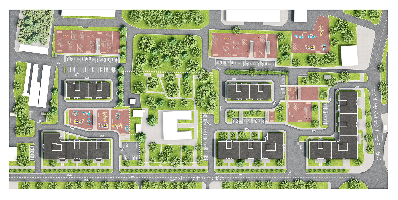 Оформление генерального плана жилого комплекса для сайта