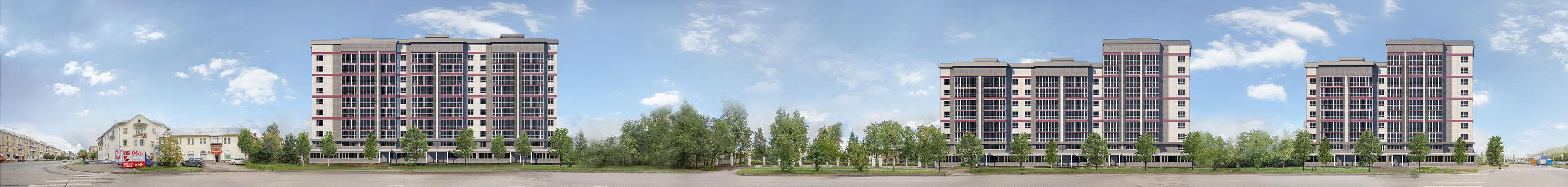 Развёртка жилого комплекса по улице