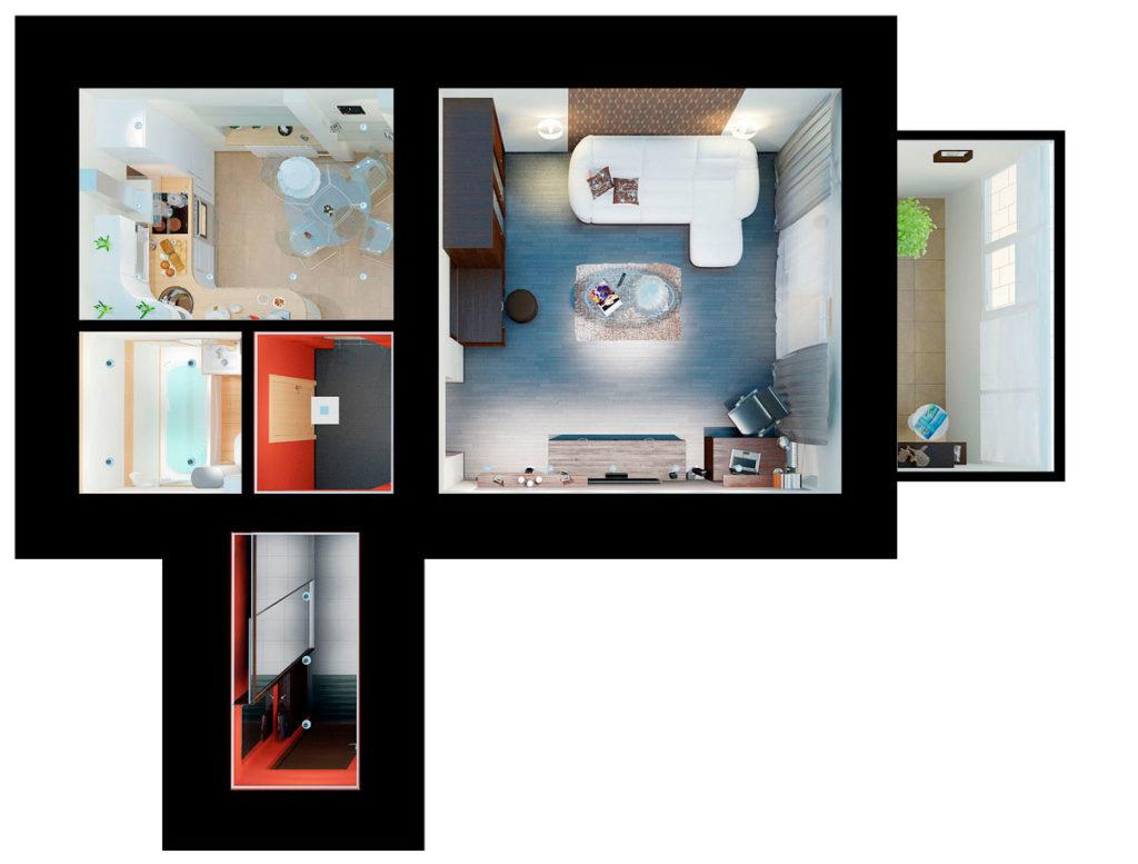 план интерьера квартиры казань