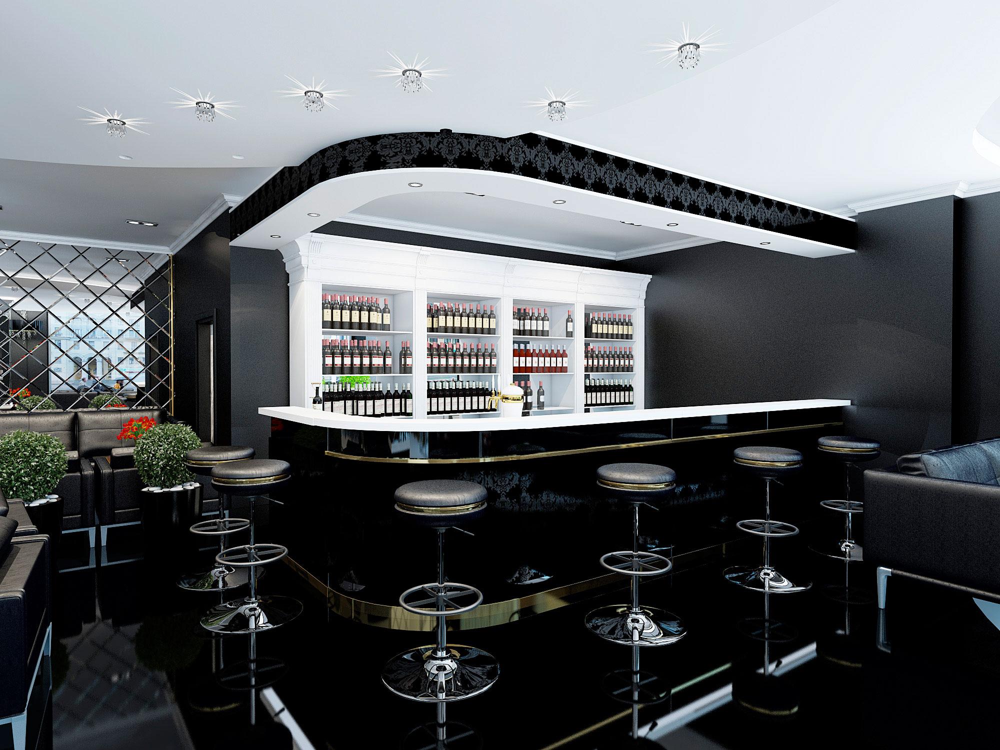 Дизайн барной стойки в ресторане