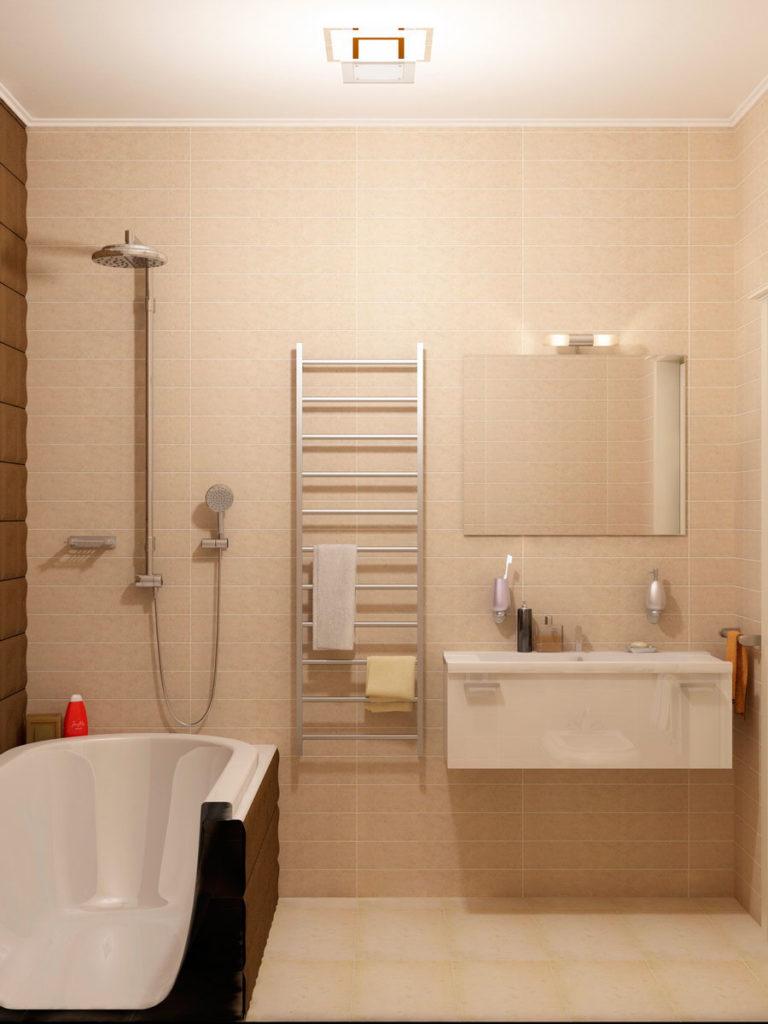 Второй санузел зона ванны с душем.