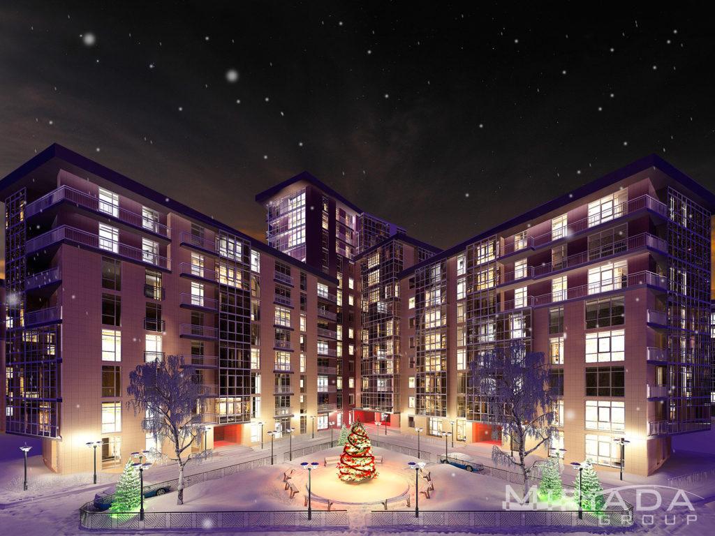ночная визуализация недвижимости