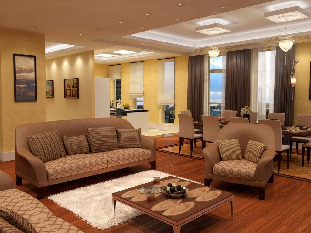 Дизайн зоны отдыха в гостиной Казань