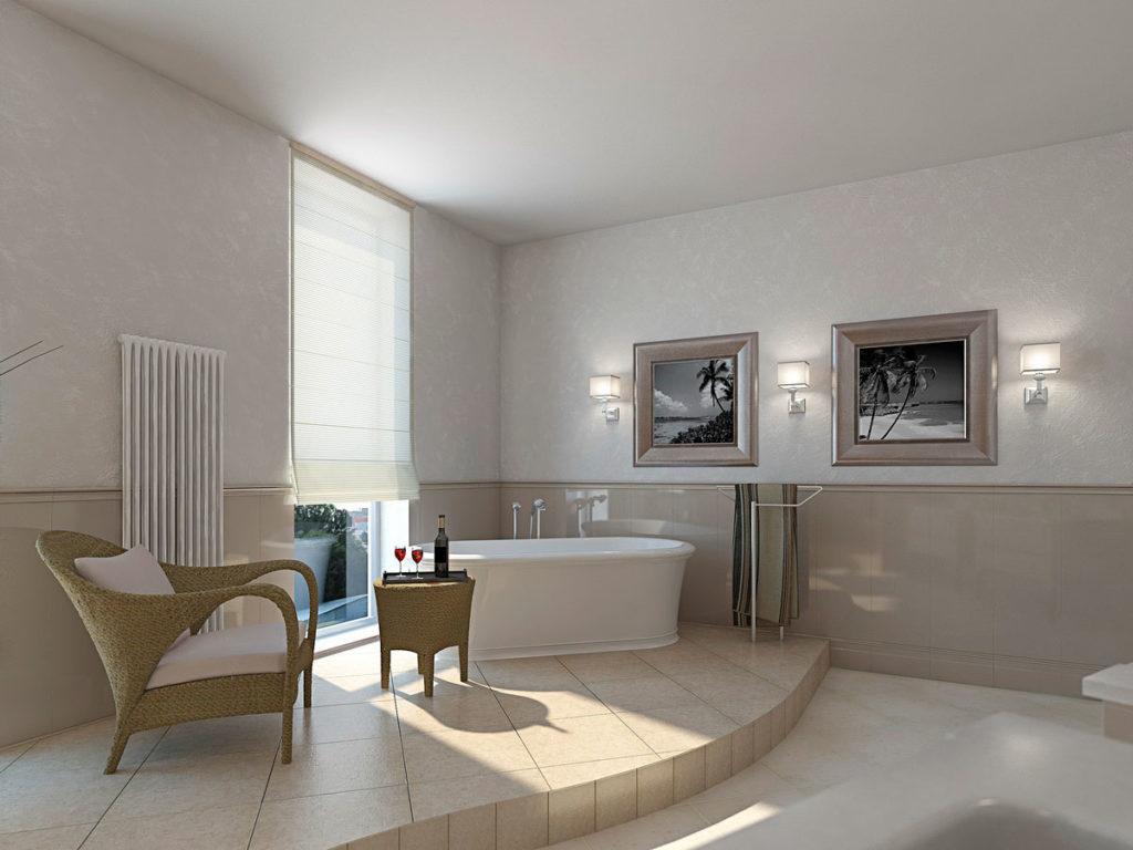 Дизайн большой ванной комнаты Казань