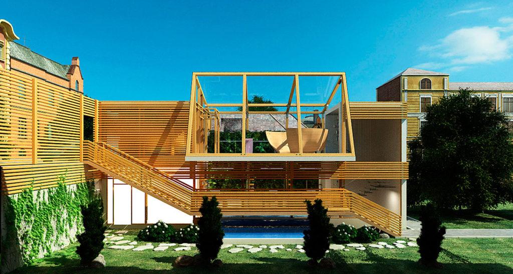 концепт здания дизайн студии