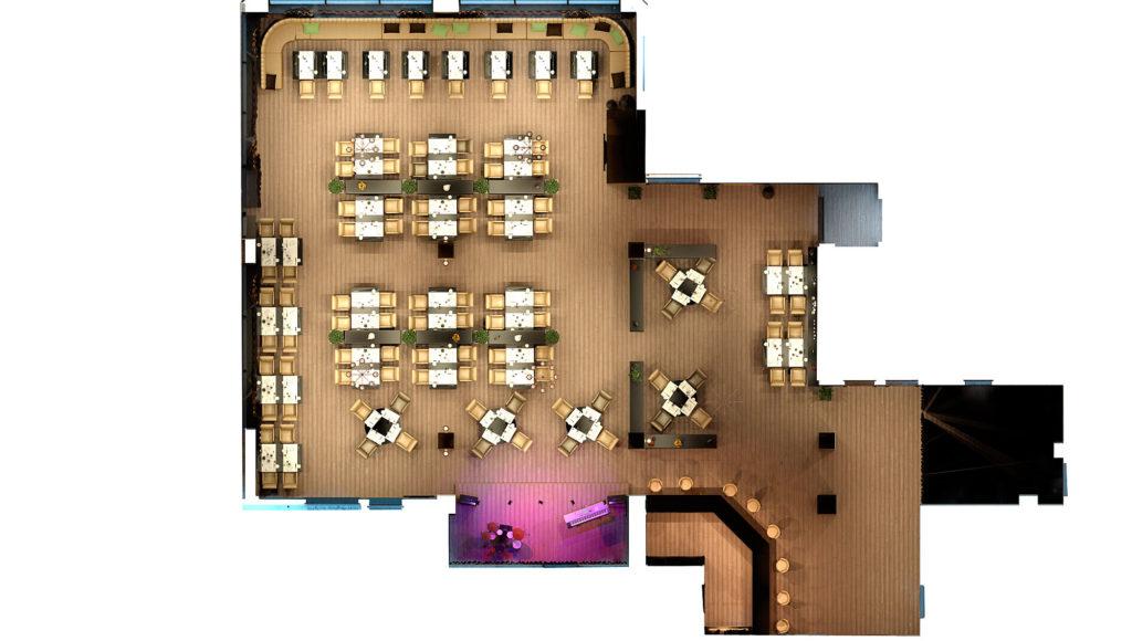 План Дизайн интерьера ресторана