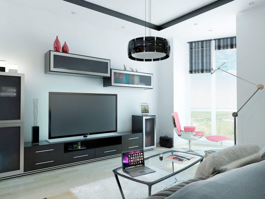 дизайн гостиной в квартире Москва
