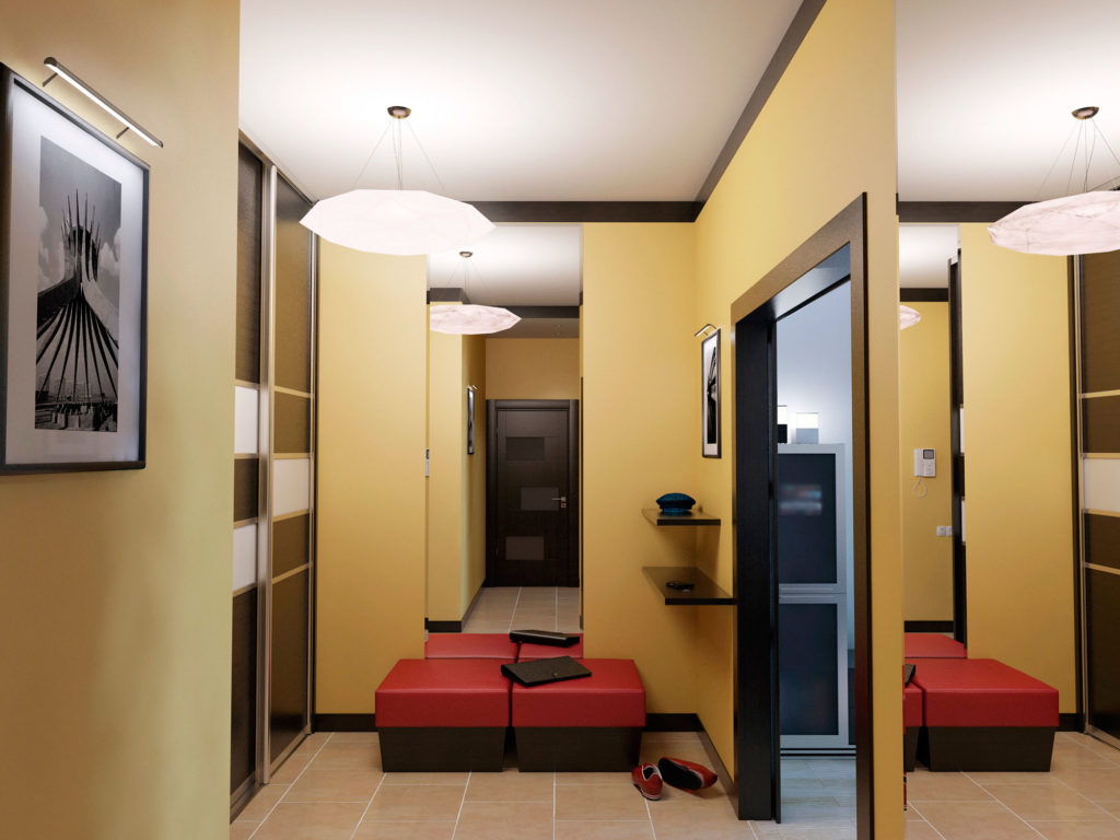 современный дизайн холла в квартире москва