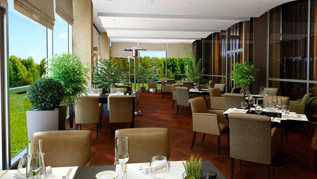 Дизайн террасы ресторана