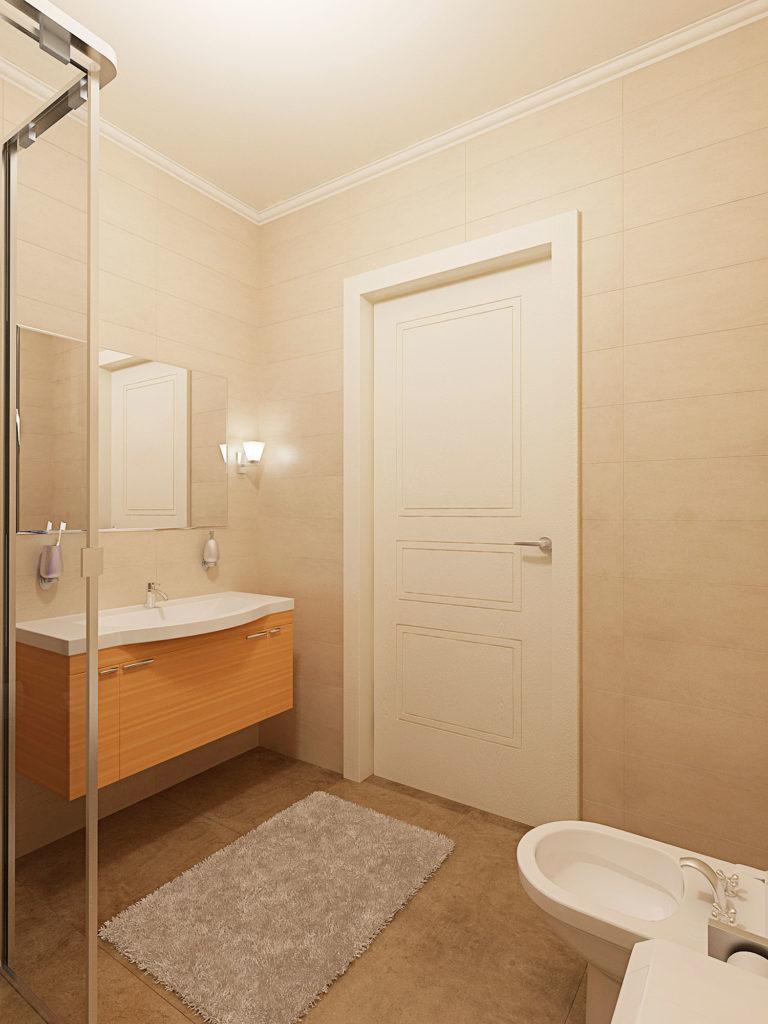 Дизайн ванной комнаты с душевой кабиной Казань