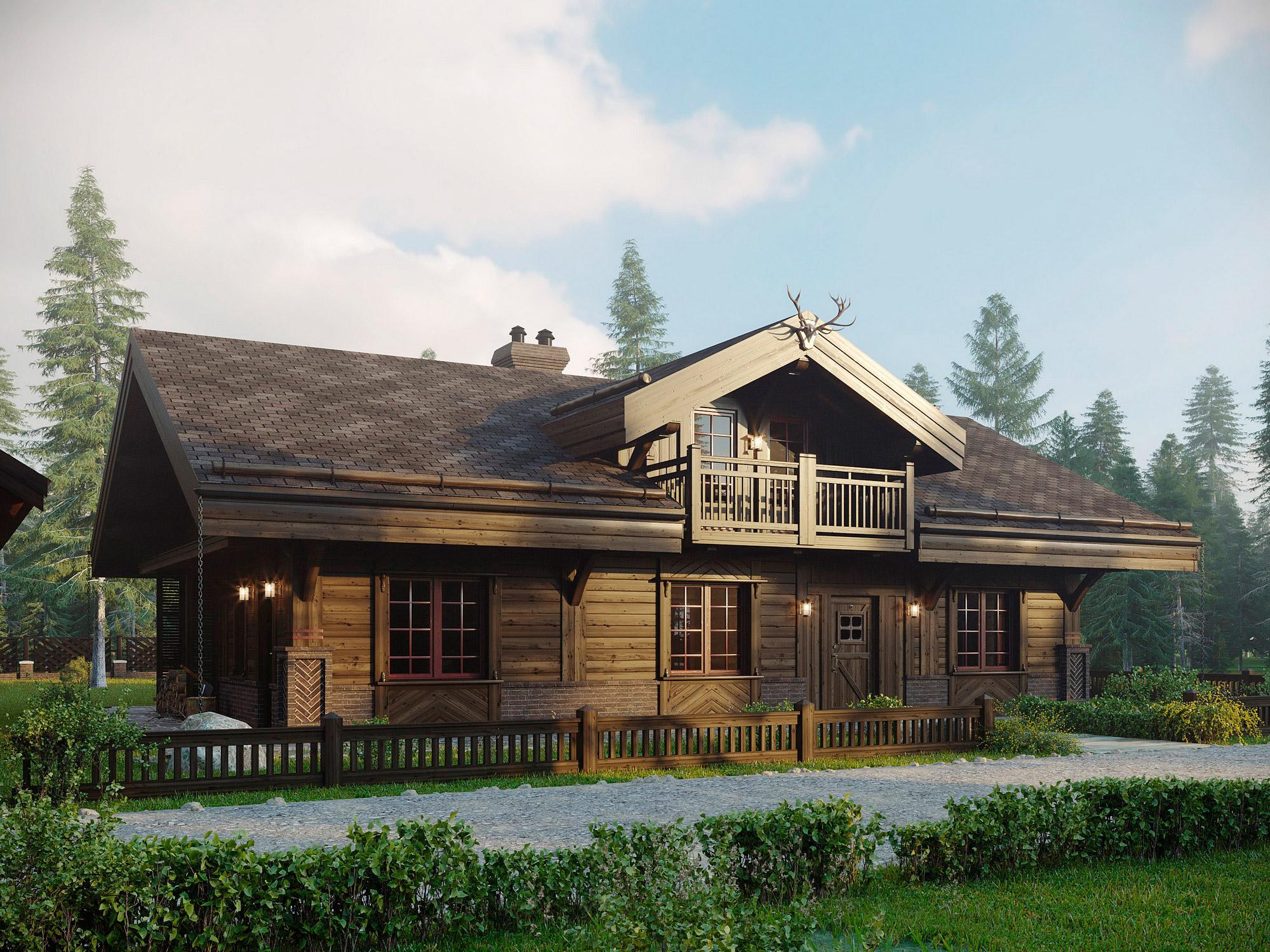 Проект дома в стиле шале Казань