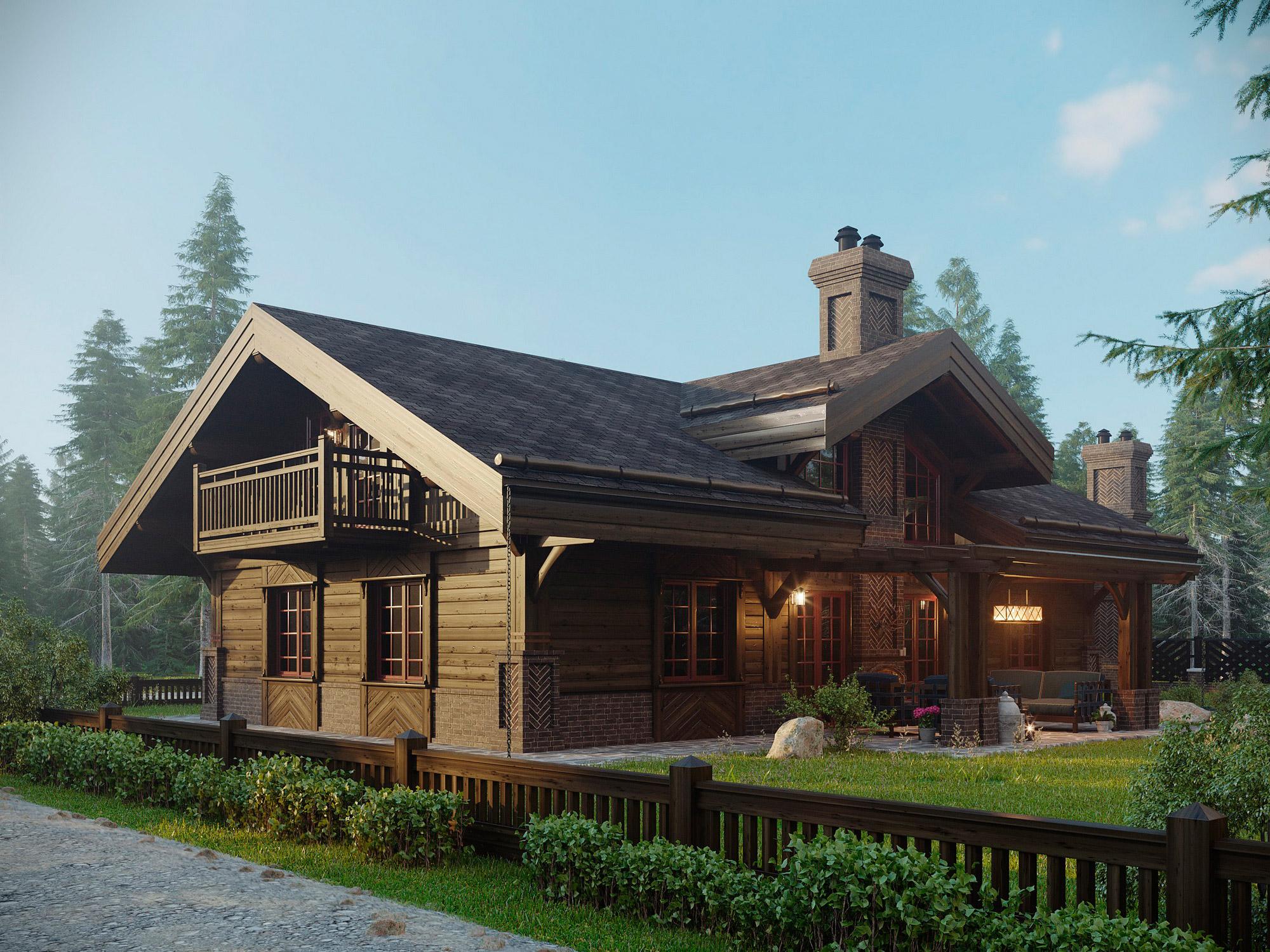 Красивые деревянные дома проекты и план фото
