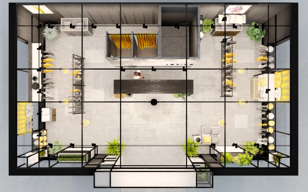план магазина одежды дизайн проект